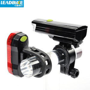 Leadbike Cycling Bicycle Front Light Waterproof LED Bike Rear Light