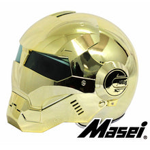 Load image into Gallery viewer, MASEI 610 electroplate Gold plating Chrome IRONMAN Iron Man helmet