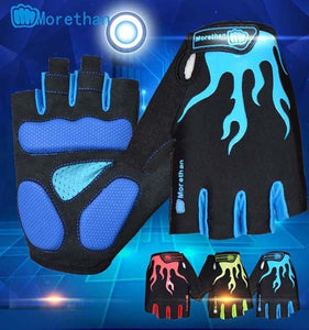 MOREOK Cycling Gloves Half Finger Mens Women's Summer Bike Bicycle Gloves Breathable Lycra Sport Mountain Bike Gloves