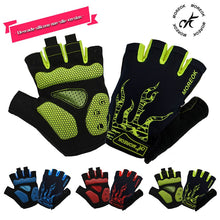Load image into Gallery viewer, MOREOK Cycling Gloves Half Finger Mens Women's Summer Bike Bicycle Gloves Breathable Lycra Sport Mountain Bike Gloves