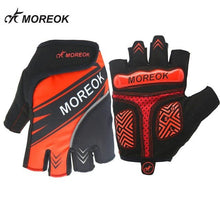 Load image into Gallery viewer, MOREOK Summer Cycling Gloves Half Finger Men Women Shockproof
