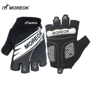 MOREOK Summer Cycling Gloves Half Finger Men Women Shockproof