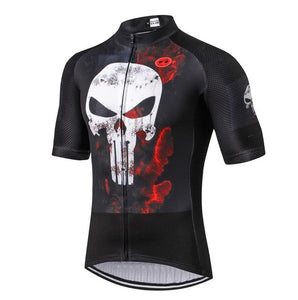 Men's Breathable Short Sleeve Cycling Jersey Quick Dry Biking Shirts