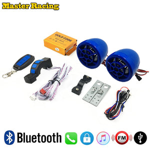 Motorcycle Anti-theft Security Alarm Moto Bluetooth MP3 Music Player