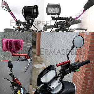 Motorcycle Parts Multiple Function Handlebar Extended Bracket Universal 8mm 10mm