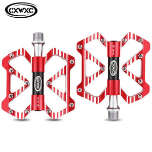 CXWXC Bicycle Flat Pedals Aluminum Alloy Cycling Anti-skid 3 Bearings