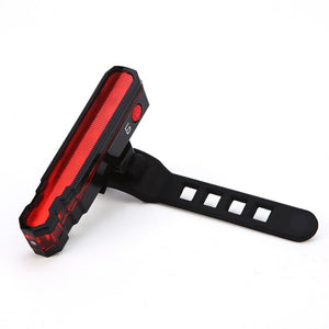 Multi-functional Bike Red Laser Taillight  USB Rechargeable