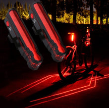 Load image into Gallery viewer, Multi-functional Bike Red Laser Taillight  USB Rechargeable