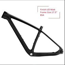 "Load image into Gallery viewer, NEW 29er Carbon MTB Bicycle Frame UD Matt BSA 1-1/8"" 1-1/2"""