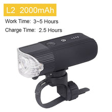 Load image into Gallery viewer, NEWBOLER 4000 mAh 800 Lumen L2 Light For Bicycle MTB Bike Lamp