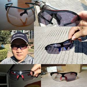 NEWBOLER Sport Photochromic Glasses UV Protection Cycling Eyewear