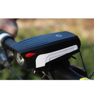 NEWBOLWE With Horn Bike Front Light USB 400 Lumen Cycling Headlight
