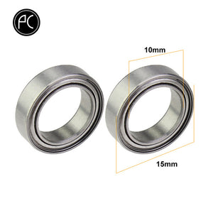PCycling 2pcs Bicycle Pedal Bearing Stainless Steel Sealed Bearing