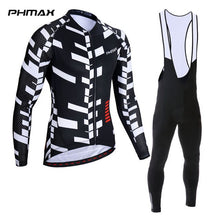 Load image into Gallery viewer, PHMAX 2019 Long Sleeve Bib Cycling Set Autumn MTB Bicycle Cycling Clothing