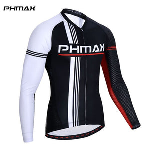 PHMAX 2019 Long Sleeve Cycling Jersey Mans Cycling Clothing MTB