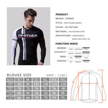Load image into Gallery viewer, PHMAX 2019 Long Sleeve Cycling Jersey Mans Cycling Clothing MTB