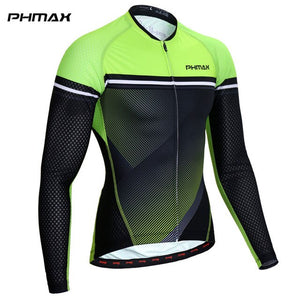 PHMAX 2019 Pro Cycling Jersey Long Sleeve MTB Bike Clothing Bicycle Clothes