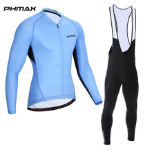 Load image into Gallery viewer, PHMAX 2019 Pro Cycling Jersey Set Long Sleeve Spring MTB Bike Cycling Set