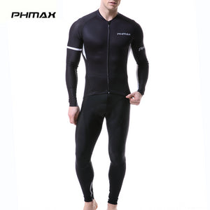 PHMAX 2019 Pro Cycling Jersey Set Long Sleeve Spring MTB Bike Cycling Set