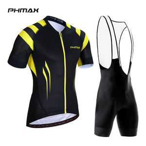 PHMAX 2019 Pro Summer Cycling Jerseys Set Mans Mountain Bicycle Clothing