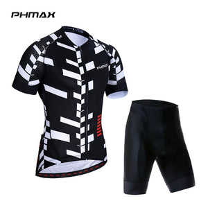 PHMAX 2019 Summer Anti-UV Cycling Jersey Set Mountian Bicycle Cycling Sportswear
