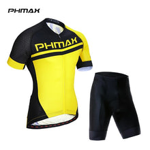 Load image into Gallery viewer, PHMAX  Summer Cycling Jersey Set With 3D Gel Padded Cycling Suit