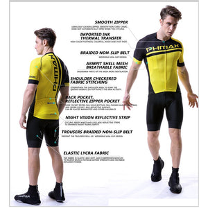 PHMAX  Summer Cycling Jersey Set With 3D Gel Padded Cycling Suit