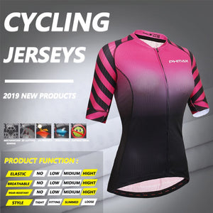 PHMAX Breathable Women Cycling Jersey Quick-Dry Cycling Bicycle Clothing