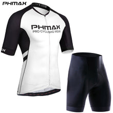 Load image into Gallery viewer, PHMAX Cycling Clothing Sets Italy Silicon Grippers  Cycling Jersey Set