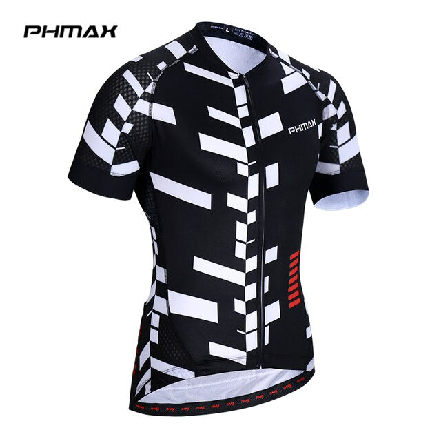 PHMAX Cycling Jersey Quick-Dry Mtb Bicycle Clothing Bike Clothing Wear Clothes Short