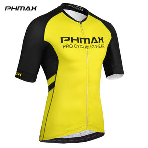 PHMAX High Elasticity Cycling Jersey With  Italy Silicon Grippers Short Sleeve MTB