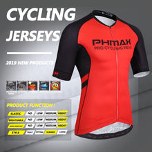 Load image into Gallery viewer, PHMAX High Elasticity Cycling Jersey With  Italy Silicon Grippers Short Sleeve MTB