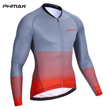 Load image into Gallery viewer, PHMAX Long Sleeve Cycling Jersey Men Summer Breathable MTB Q