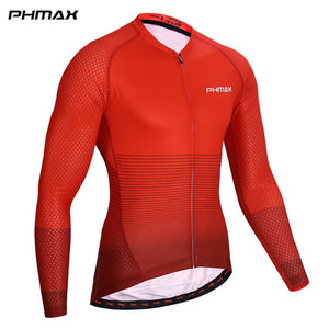 PHMAX Long Sleeve Cycling Jersey Men Summer Breathable MTB Q