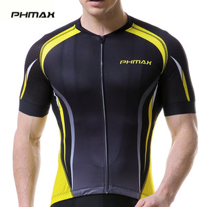 PHMAX Men's Cycling Jersey Pro Breathable Summer Short Sleeve Bicycle Clothing