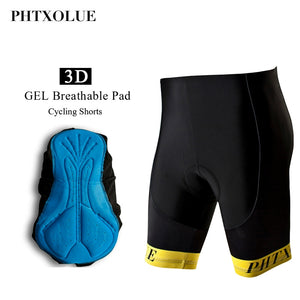 Phtxolue Gel Padded Cycling Shorts Men Shockproof MTB Bicycle Shorts