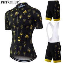 Load image into Gallery viewer, Phtxolue Women Cycling Clothing Race Cycling Clothes/Yellow  Jersey Set