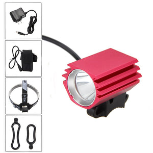 Portable Mini Lamp 3000 LM  XM-L2 LED Headlamp 4 Modes Front Bike Light