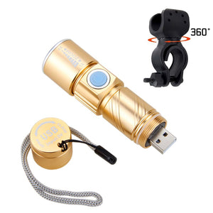 Portable Mini USB Rechargeable Bike Light 1000lm R5 Flashlight