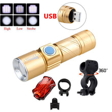 Load image into Gallery viewer, Portable Mini USB Rechargeable Bike Light 1000lm R5 Flashlight