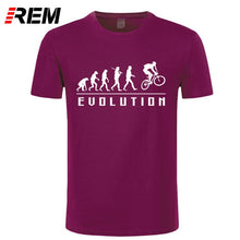 Load image into Gallery viewer, REM Evolution Of Biking t-shirt Lycra