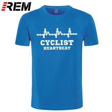Load image into Gallery viewer, REM Mens CYCLINGer Cyclist Heartbeat T-Shirt Mountain Road Bike