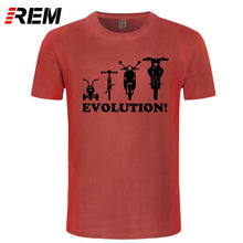 Load image into Gallery viewer, REM Novelty Youth T shirt Evolution of a Tricycle Bicycle Moped Motorbike