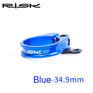 RISK 31.8/34.9mm MTB Bike Seat Post Clamp With Cable Organizer Ultralight