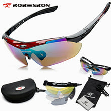 Load image into Gallery viewer, ROBESBON Cycle Polarized Eyewear Glasses Bicycle Cycling Sunglasses
