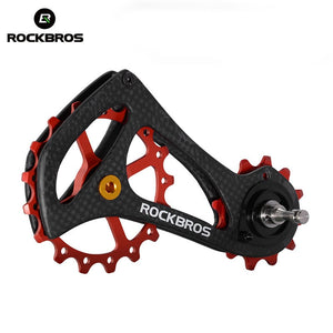 ROCKBROS 17T Bike Carbon Fiber Bicycle Rear Derailleur Pulley Wheel Kit