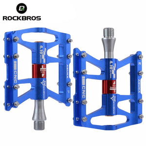 ROCKBROS 4 Bearings Bicycle Pedal Anti-slip Ultralight CNC MTB