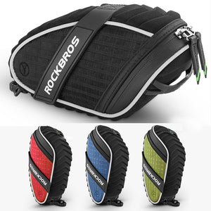 ROCKBROS Bicycle Bag 3D Shell Rainproof Saddle Bag Reflective