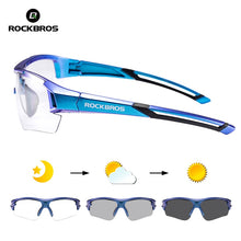 Load image into Gallery viewer, ROCKBROS Bike Photochromic Glasses Unique Gradient Frame Hiking Driving Cycling