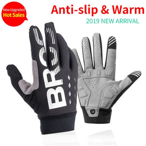 ROCKBROS Cycling Bike Gloves Touch Screen Windproof Long Gloves
